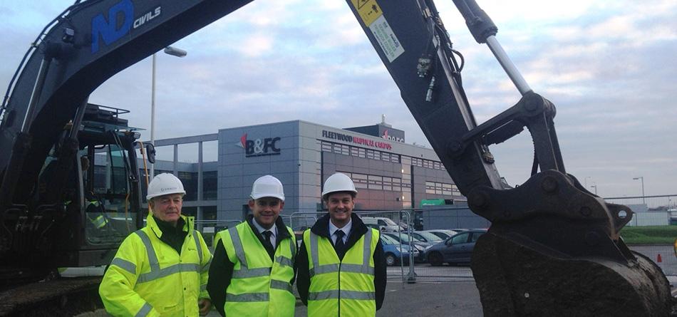 Groundworks start on new marine engineering centre    Lancashire Skills Hub