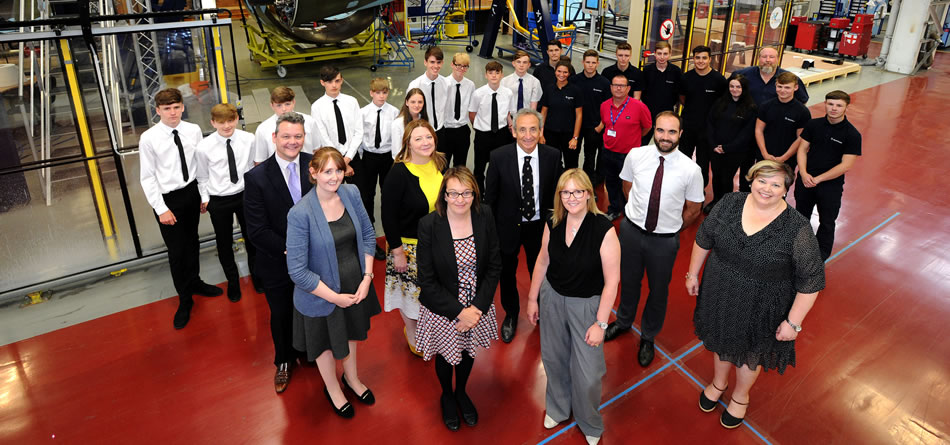 pupils from Shuttleworth College visit Safran Nacelles in Burnley