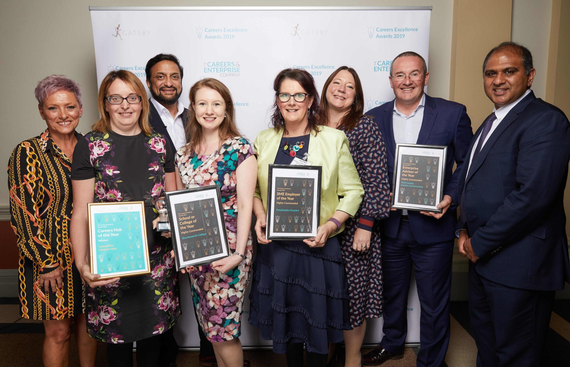 Lancashire delegation with awards