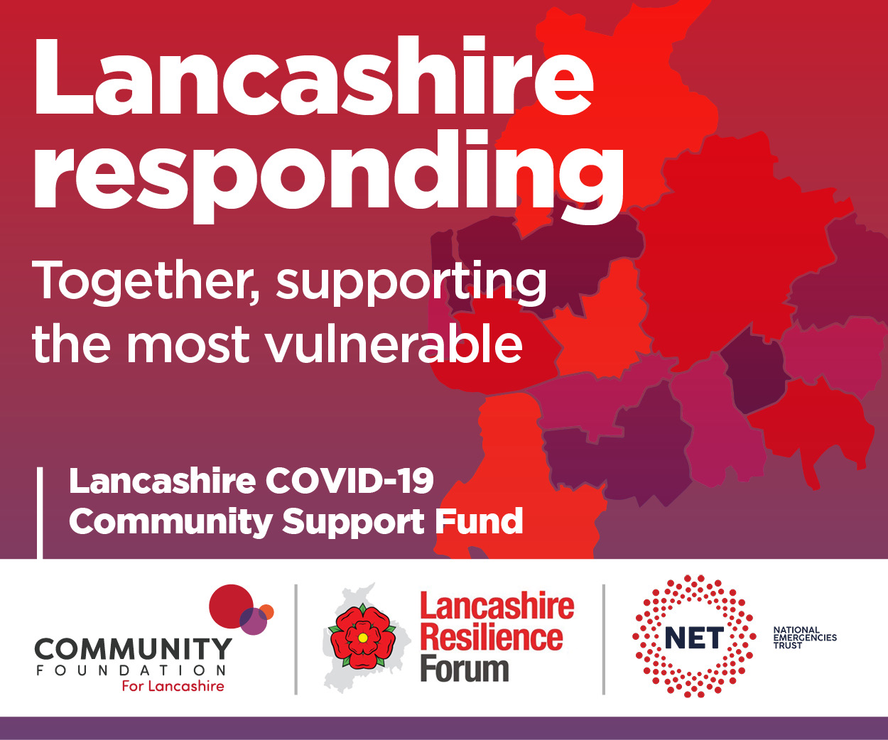 Lancashire responding. Together, supporting the most vulnerable.