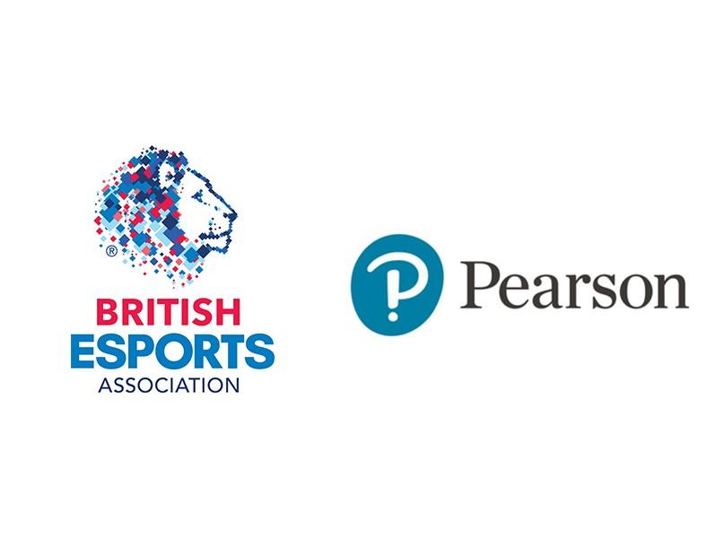 British ESports Association and Pearson logos